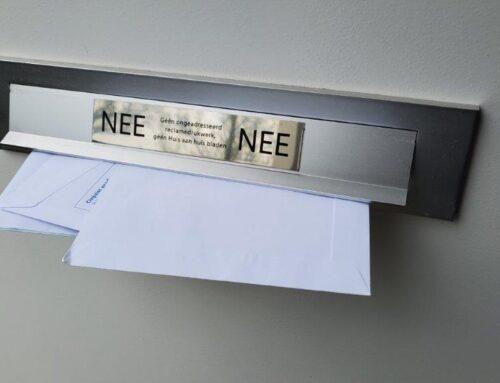 Een goede buur… zorgt ervoor dat er geen post zichtbaar is